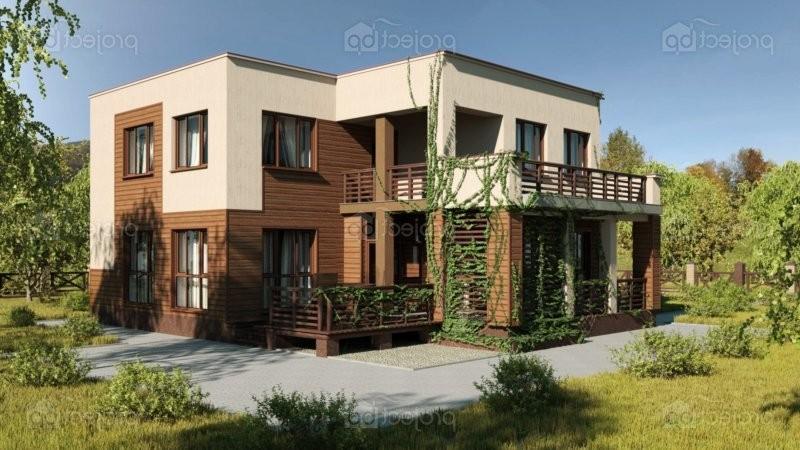 Проект дома с плоской крышей и облицовкой сайдингом 170-A-Z